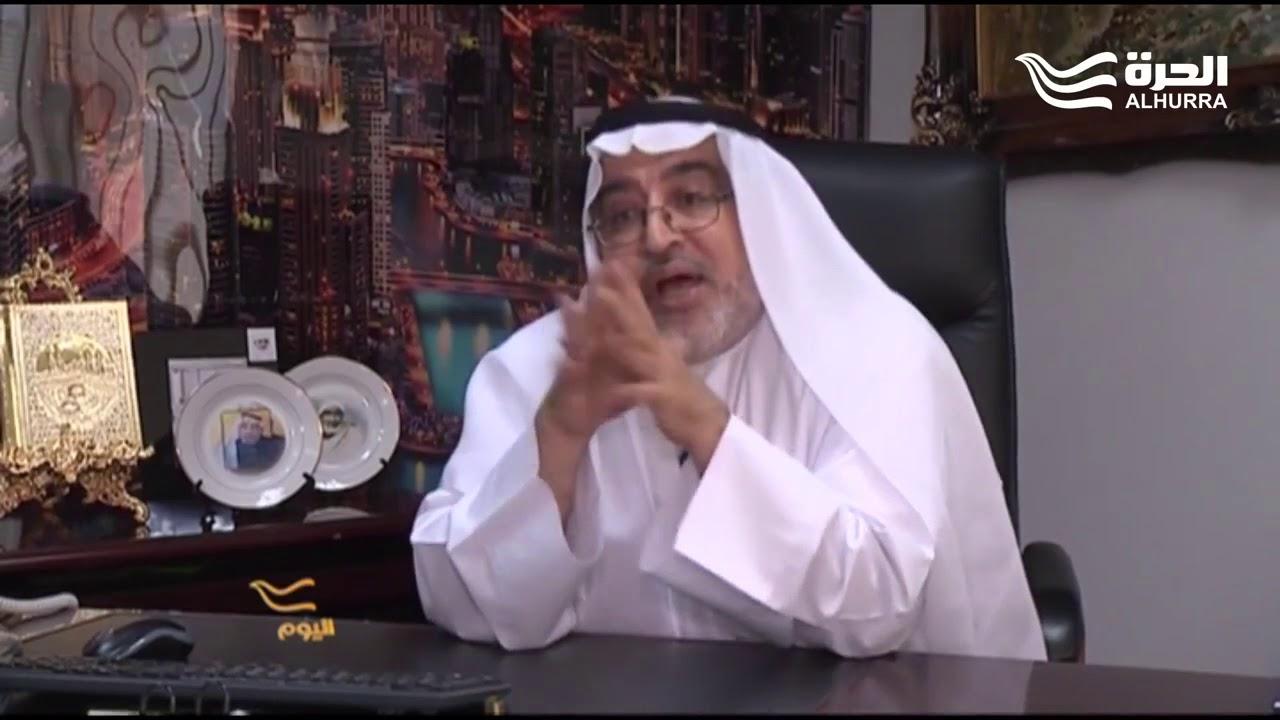 الكاتب الإماراتي أحمدإبراهيم من مكتبه فيدبيوعلى الهوامباشرةً مع قناةالحرّة ومقرها ولاية فيرجينيا