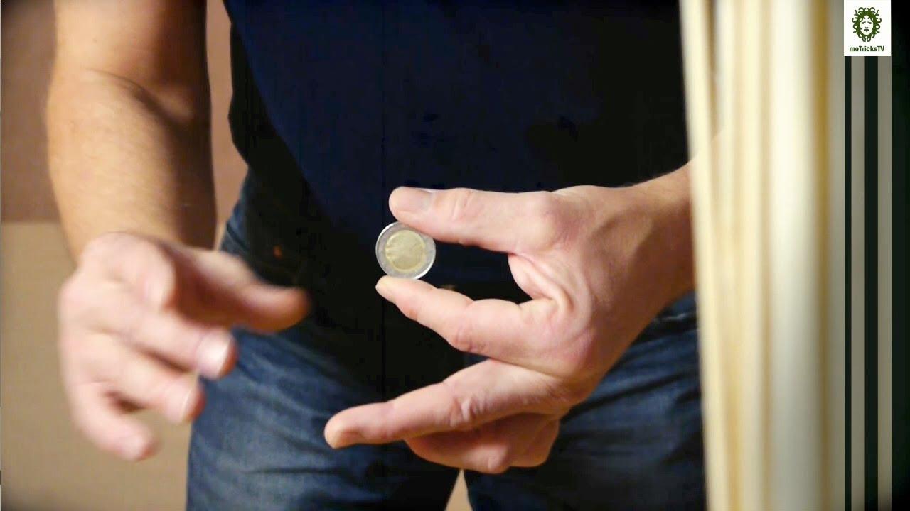 Münze Verschwinden Erscheinen Lassen Blitzschnell Münzentrick