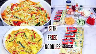 Quick and easy stir fry instant noodles recipe.
