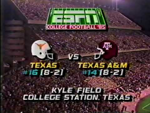 1985 Texas Aggie vs tu game
