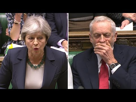 May mocks Corbyn over Czech spy allegations