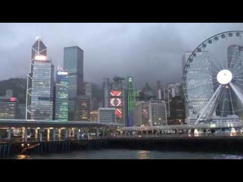 Periscope Rewind - Typhoon MERBOK hits Hong Kong - a view from Victoria Harbour.