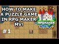 RPG Maker MV - How to make a puzzle game #1 - Boulder Puzzles