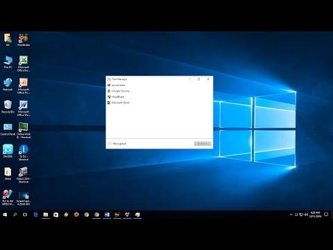Shortcut key to Open Task Manger In Windows PC (Windows 10/8.1/7)