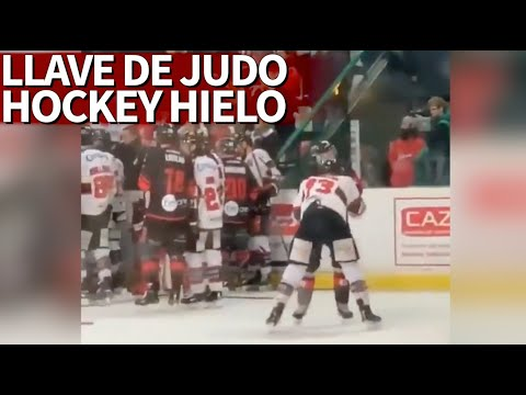 En las peleas de hockey se han visto cabezazos, puñetazos... ¡y ahora llaves de judo! | Diario AS