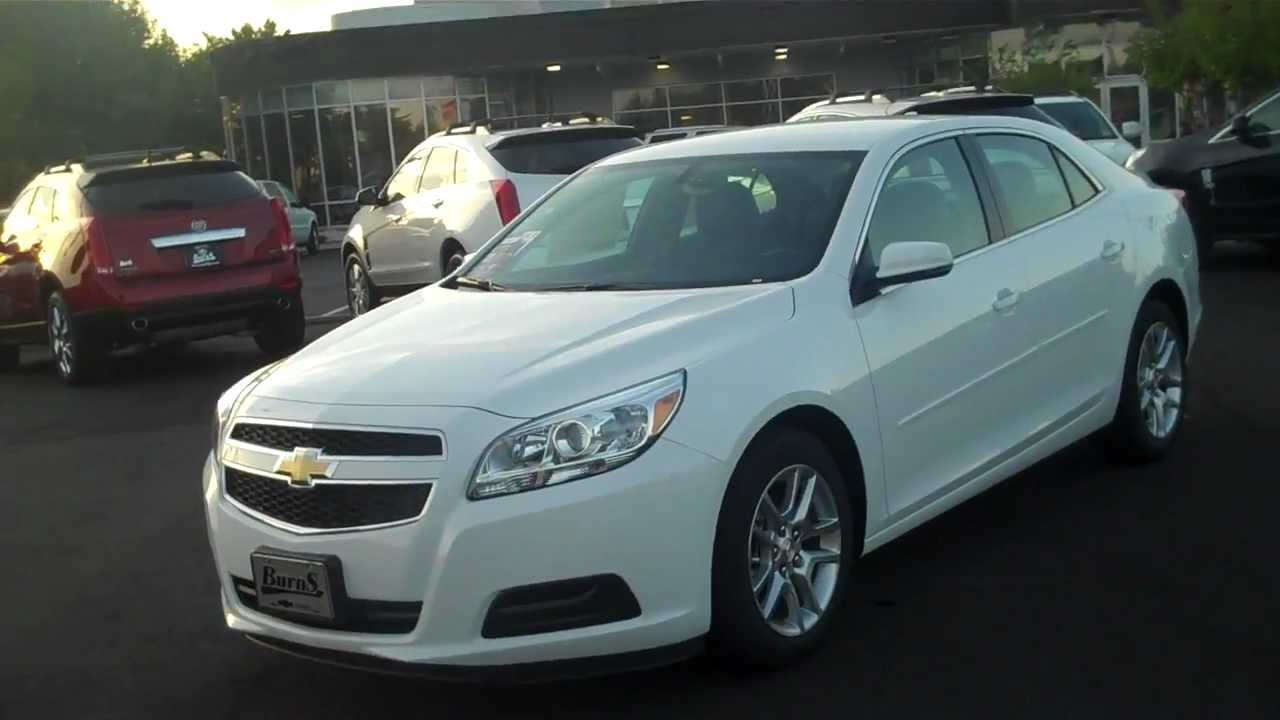2013 Chevrolet Malibu 1lt Summit White Burns Chevrolet