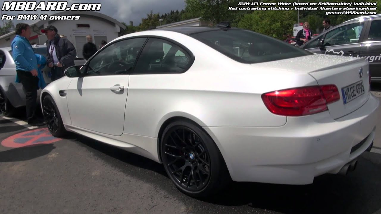Frozen Brilliantwhite Bmw M3 E92 Indivdual Youtube