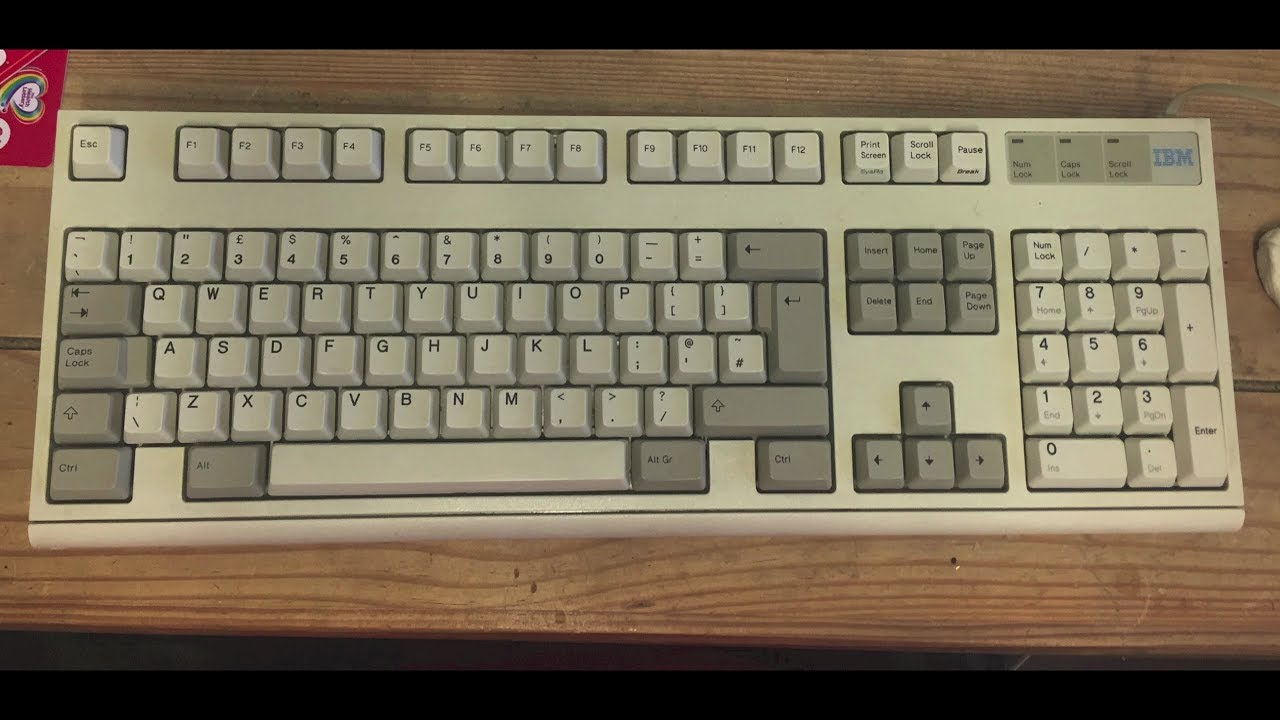 Find My Keys >> IBM Model m2 clicky keyboard disassembly and repair - YouTube