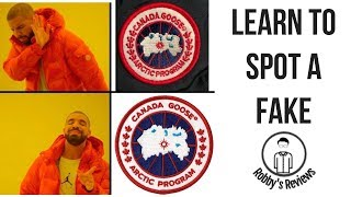 Learn to spot a fake Canada Goose--A comparison of past, present and fake models