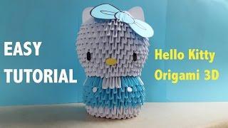 Origami 3D Hello Kitty