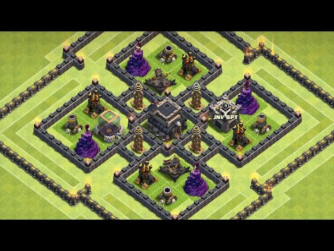 Townhall 9 Base Farming Clash Of Clan 2018 | Coc Th9 Best Base Making