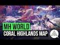Monster Hunter World | Coral Highlands New Map & Monster Gameplay
