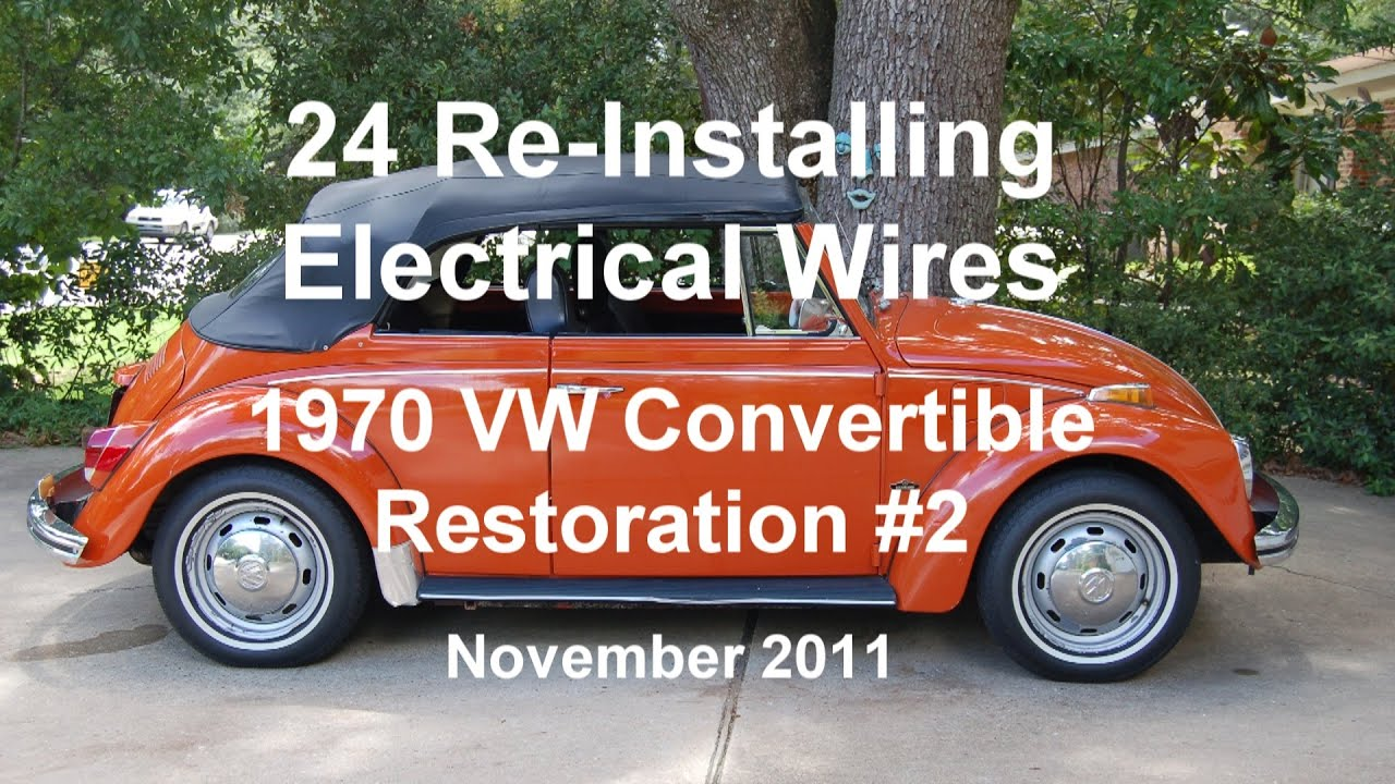 medium resolution of 24 of 44 1970 vw beetle installing electrical wires wmv youtube 1970 vw wiring diagram windshield