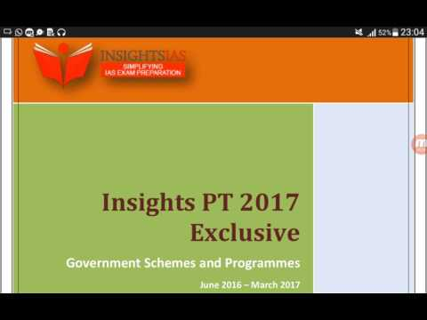 IAS Prelims-2017| capsule-1|Govt schemes-ministry of social justice & emp., min. of power