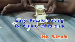 How to Make Wood Puzzle car Special for children's brilliance latest video2017