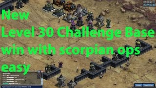 War Commander lvl 30 new challenge bases win with scorpion ops easy