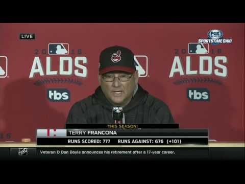 Terry Francona on dad throwing out first pitch at ALDS Game 1