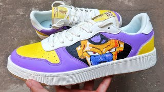 CUSTOM GOLDEN FRIEZA SHOES DIY…