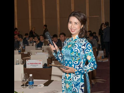 M.C Thuy An at Vietnam Business Forum 2018