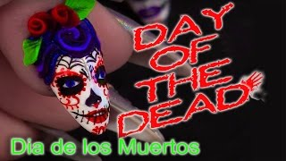Day of the Dead - Sugar Skulls Nail Art Tutorial