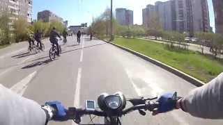 Велопробег на электровелосипеде, electric bike
