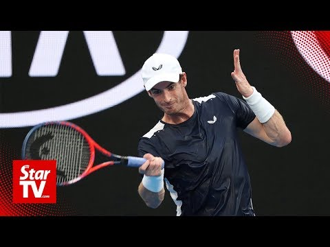 Murray first hit on tennis court after surgery