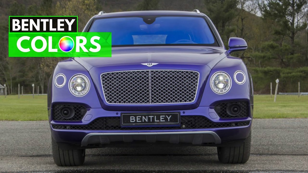 Bentley bentayga colors