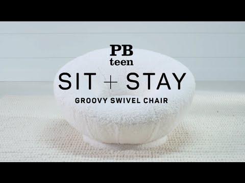 Sit + Stay - Groovy Swivel Chair | PBteen