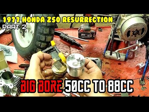 Honda Z50 (1977) Pt 2. $110 big bore kit install. 50Cc to 88cc FAST as F@ck