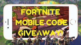 Fortnite Mobile Code Giveaway (iOS)