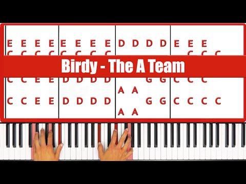 The A Team Birdy Piano Tutorial - ORIGINAL