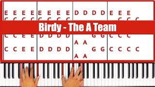♫ ORIGINAL - How To Play The A Team Birdy Piano Tutorial Lesson - PGN Piano