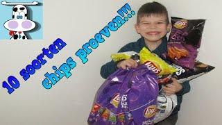 10 SOORTEN CHIPS PROEVEN!!!