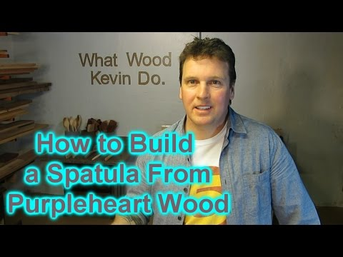 Build a Beautiful Kitchen Spatula from Purpleheart Wood