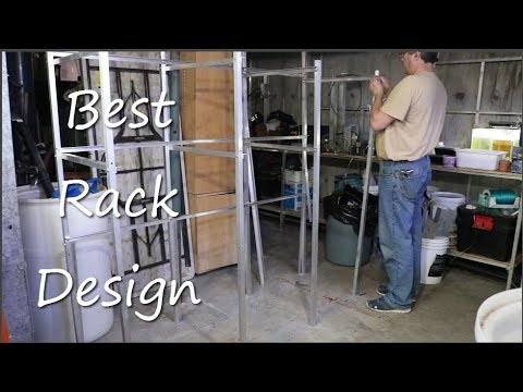 DIY Aluminum Fish Room Rack