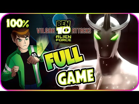 Ben 10 Alien Force: Vilgax Attacks Walkthrough 100% FULL GAME Movie Longplay (X360, Wii, PS2, PSP)