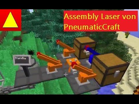 PneumaticCraft Assembly Controller Grundlagen Drill Laser IO Minecraft Tutorial