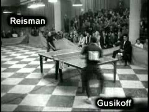 Old table tennis play