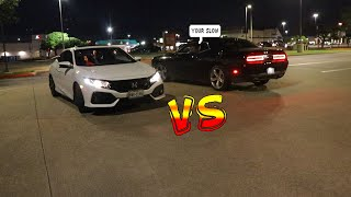 2019 Civic Si 10th Gen Stock Vs 2015 Challenger V6