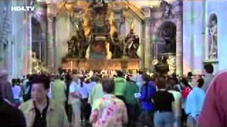 Италия. Ватикан. Внутри собора святого Петра.(http://www.town-explorer.ru/rome/ - достопримечательности Рима на карте, фото и видео., 2011-09-29T18:39:37.000Z)