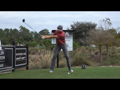 PATRICK RODGERS 120fps DRIVER FACE-ON SLOW MOTION & REGULAR GOLF SWING - 1080p HD