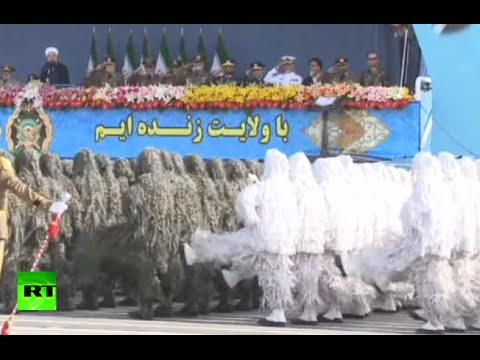 Yeti Army marching? No, Iran holds military parade