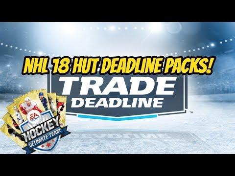 NHL 18 - Trade Deadline Pack Opening!