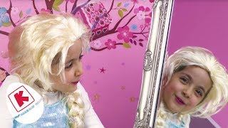 Frozen Elsa's Magic Mirror And Surprise Eggs - Princesses In Real Life | WildBrain Kiddyzuzaa