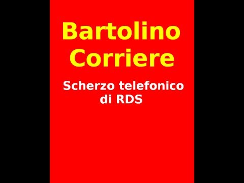 Scherzo Telefonico COMPLETO : Bartolino Corriere di RDS Consegna a Palermo Ufficio Comunale