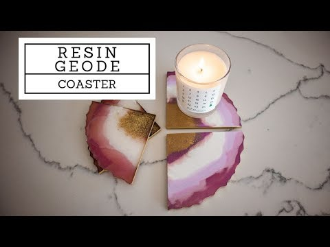 How to make resin GEODE coasters