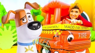 Видео для детей. ВЕСЕЛАЯ ШКОЛА NEW. Маша КАПУКИ КАНУКИ и игрушки тайная жизнь домашних животных