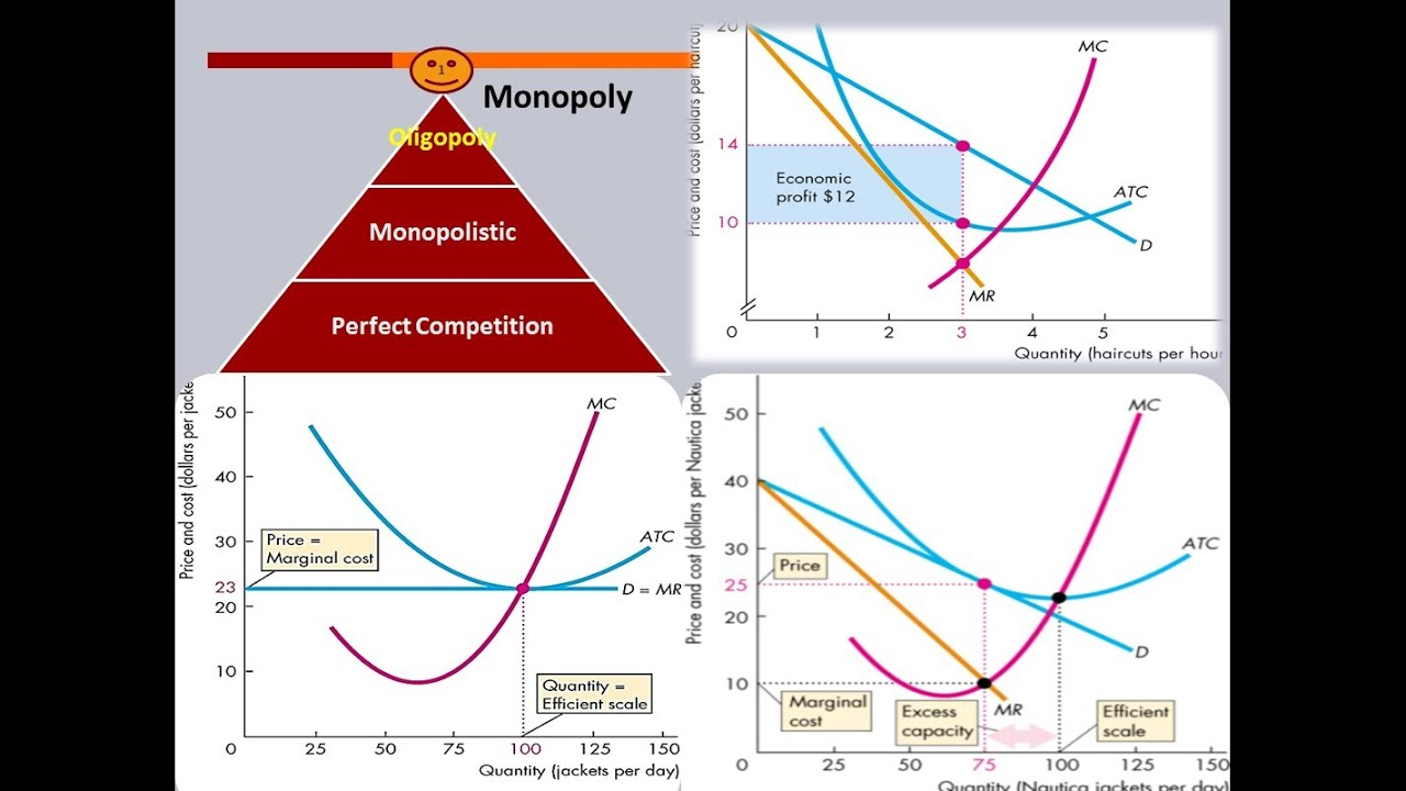 comparison between market structures The comparison and contrasting between perfect competition and monopoly markets involves the focus on the various characteristics that distinguish each of the two forms of market structures the first step in the analysis of the two forms of market structures looks at the various differences between these market structures.