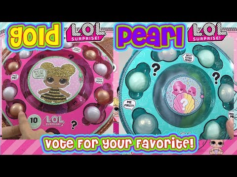 LOL Big Surprise Gold LOL Ball Vs LOL Pearl Surprise Side by Side Comparison N LOL Compilation