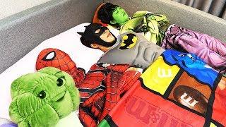 슈퍼히어로 변신해서 인기동요 놀이 영어 배우기! Song Nursery Rhymes for kids songs | Superhero ten in the bed
